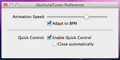 Hachune Tunes OS X