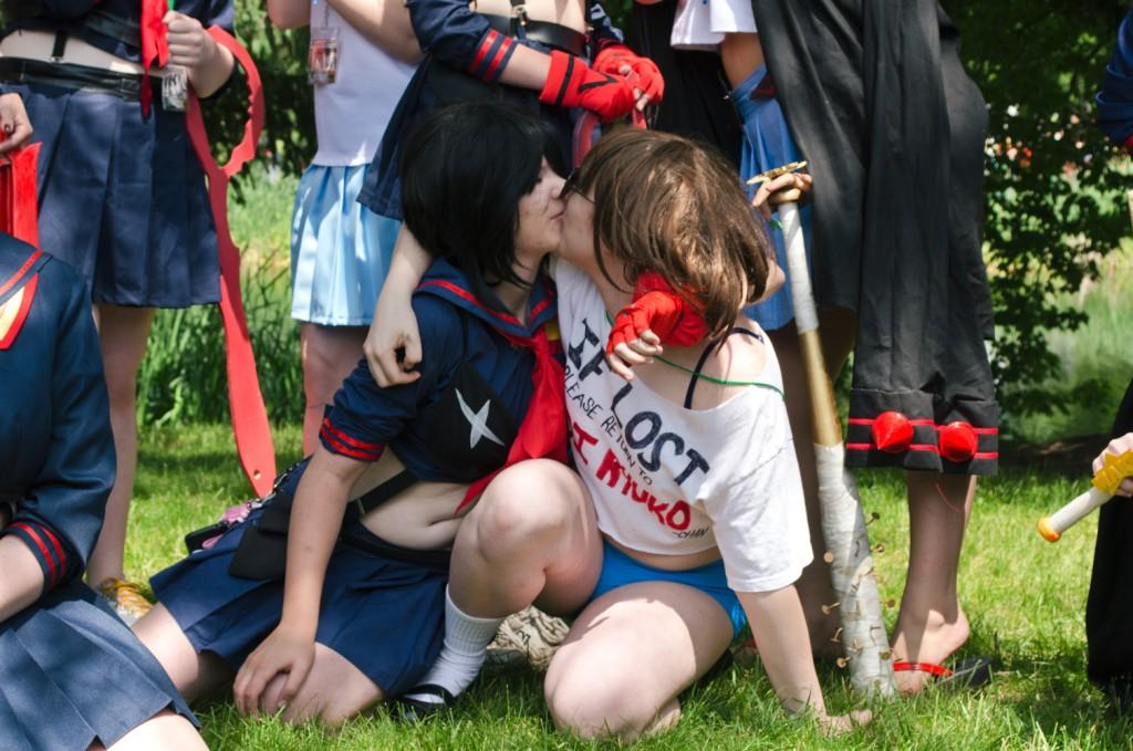 AnimeNEXT 2014 Ryuko X Mako cosplay