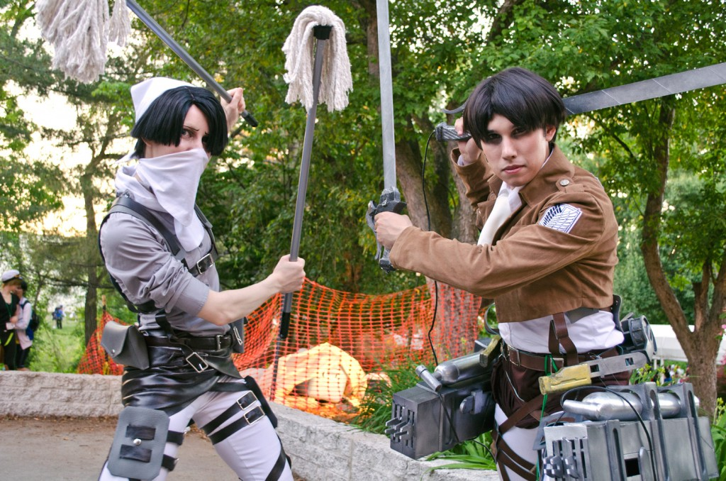 AnimeNEXT 2014 Attack on Titan Cosplay