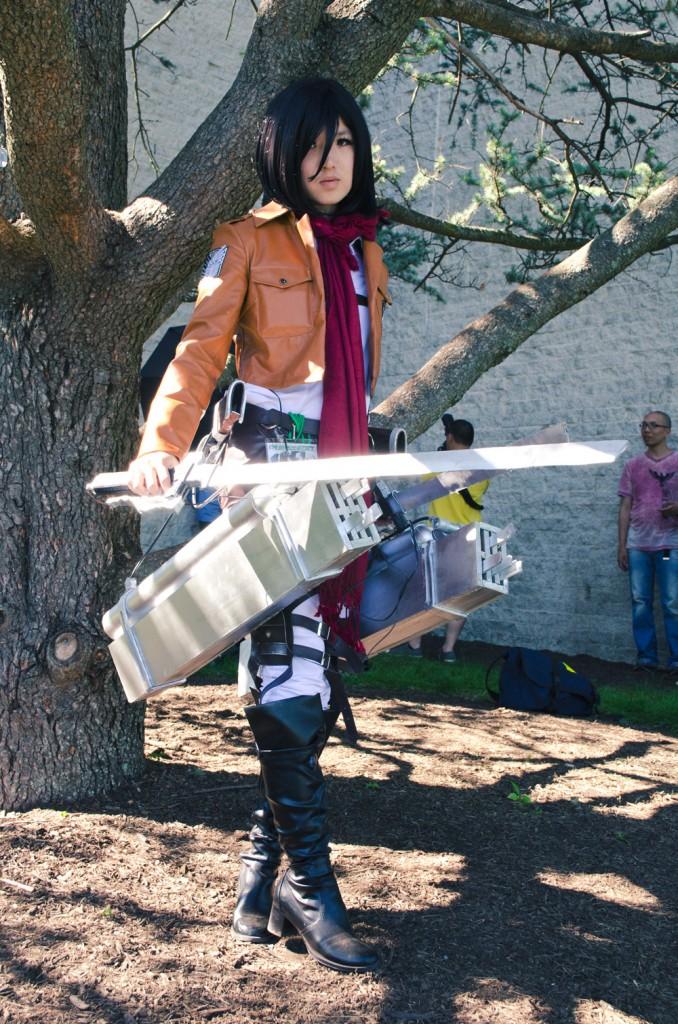 Animenext 2014 Mikasa cosplay