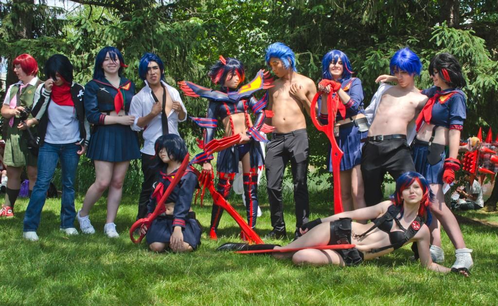 AnimeNEXT 2014 Ryuko and Mikisugi Cosplay