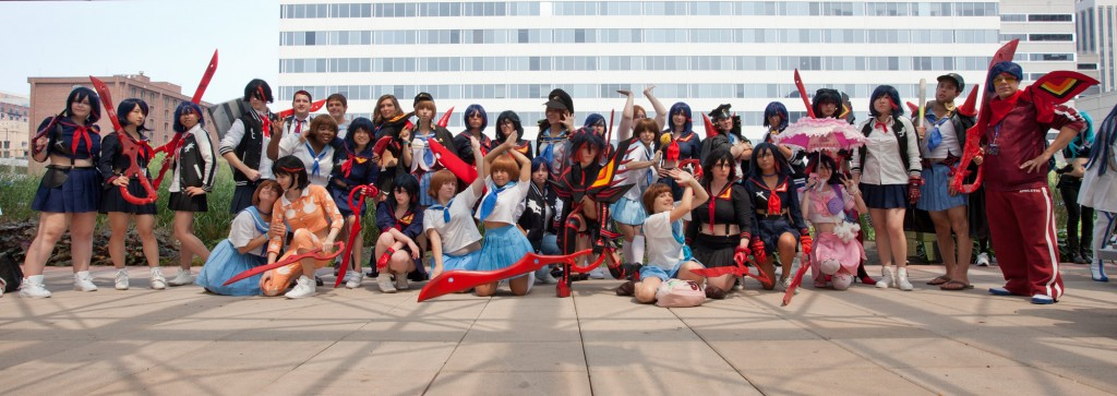 Otakon Kill la Kill cosplay photoshoot Ryuko and Mako
