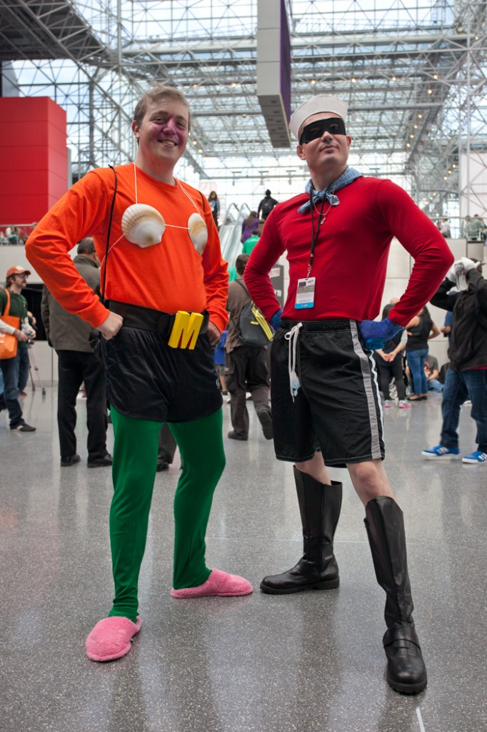 NYCC Mermaid man and barnacle boy cosplay